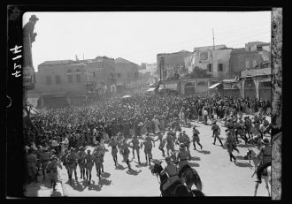 Arab demonstrations on Oct. 13 and 27, 1933. In Jerusalem...