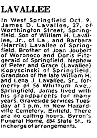 James Lavallee Obituary