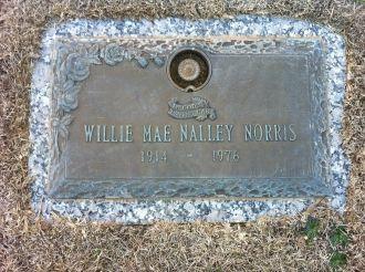 Willie Mae Nalley Norris gravesite