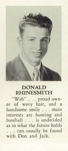 Donald Rhinesmith - 1947 Senior Photo
