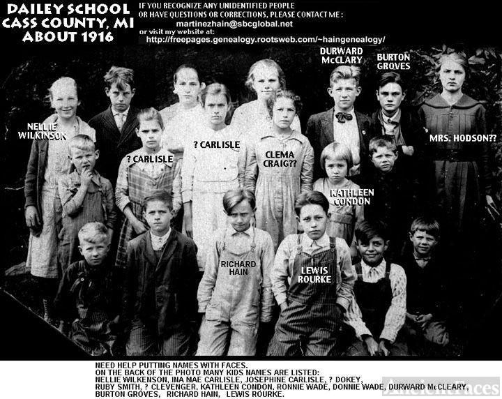 1916 Dailey School Photo