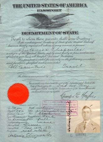 Tony Ellison's Passport