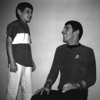 Leonard Nimoy and Fan