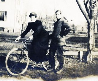 Bicyclist circa 1905