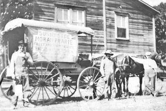 John M. Tesarik Produce wagon