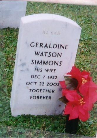 Geraldine Marian (Watson) Simmons Gravestone