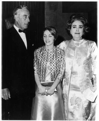 Mountbatten, Amanda Stevenson and Joan Crawford