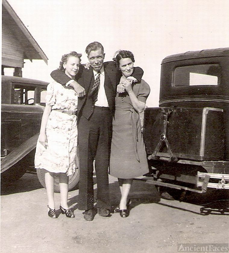 1940's Picture of my Mom with her Aunt and Uncle
