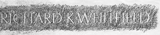 WHITFIELD: SSGT. Kenneth Whitfield, Vietnam Wall