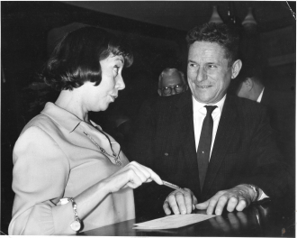 My Dad, Marc William Johnson (1912-2000) , with Imogene Coca, famous comedian/movie star of his era