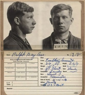 Ralph Bayless mugshot 1913