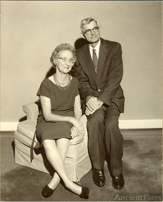 Harry Clifton & Ruth Mary (Mertens) Higgerson, abt Dec 1962 in Chesapeake, VA.