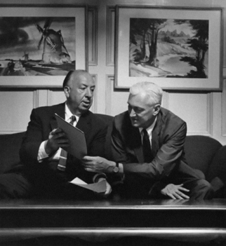 Pete Martin with Alfred Hitchcock.