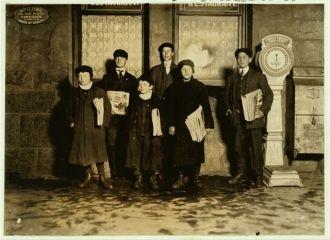Group of newsboys, CT