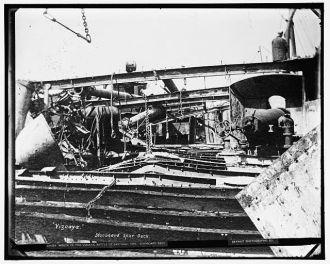 Wreck of the Vizcaya, Battle of Santiago, 1898