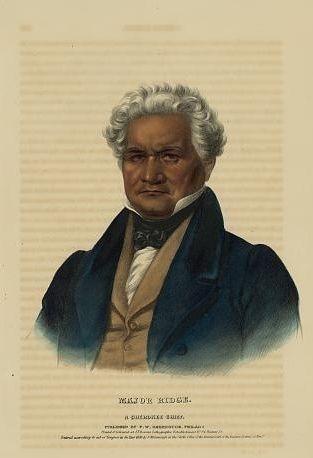 Major Ridge, a Cherokee chief / printed & coloured at...