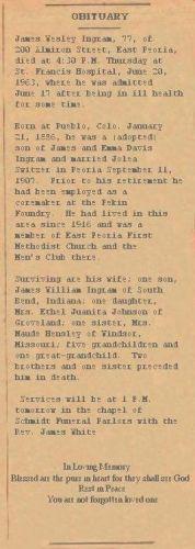 James Ingram Obituary