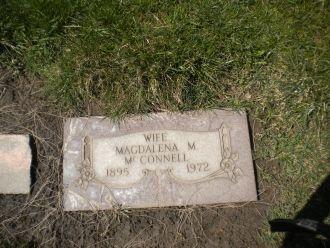 Magdalena (Zangl) McConnell gravesite