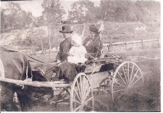 Justice family and the wagon