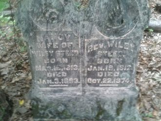 Nancy and Wiley Steed gravesite
