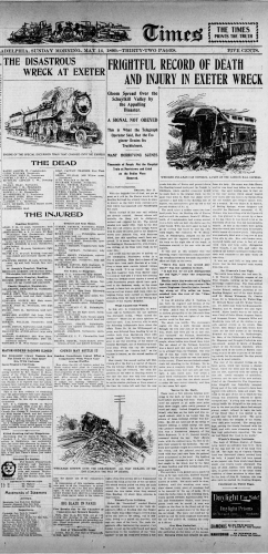 Exeter, PA Train Wreck - May 12, 1899