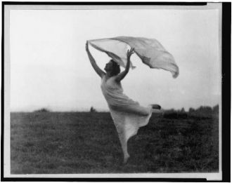 Mrs. Florence Fleming Noyes in a scarf dance