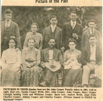 John Cooper Family, 1901 LA