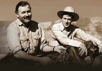 Ernest Hemingway with Gary Cooper