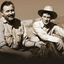 Ernest Hemingway with Gary Cooper