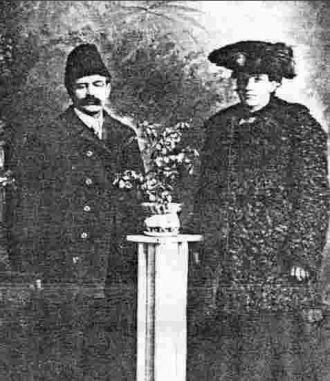 A photo of Joseph and Caroline Best