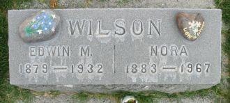 Edwin and Nora Wilson gravesite