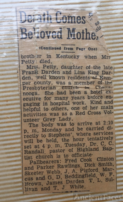 Mary Sue Darden Love Obituary pt 2