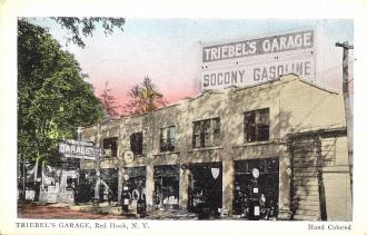 Postcard of Triebel's Garage