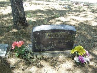 John Alva Meyer Headstone