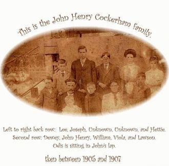 John Henry & Viola Pamela (Camp) Cockerham family