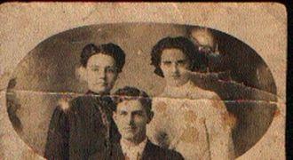 James Rains with Ester Slater and Lula Miller