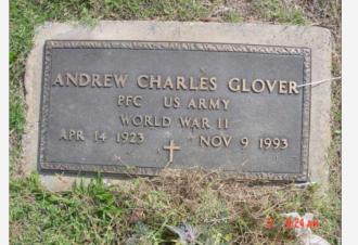 Andrew Charles Glover Gravestone