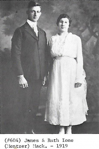 1919 - James and Ruth Ione (Mentzer) Mack - Sanger relatives