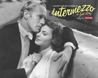 Leslie Howard and Ingrid Bergman