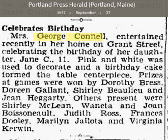 Louise Marie Hagen-Connell--Portland Press Herald (Portland, Maine) (27 sep 1947)