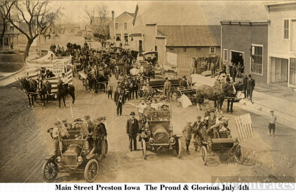 Preston, Iowa on the 4th of July c1900