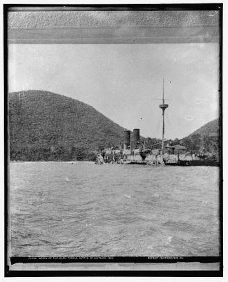 Wreck of the Maria Teresa, Battle of Santiago, 1898