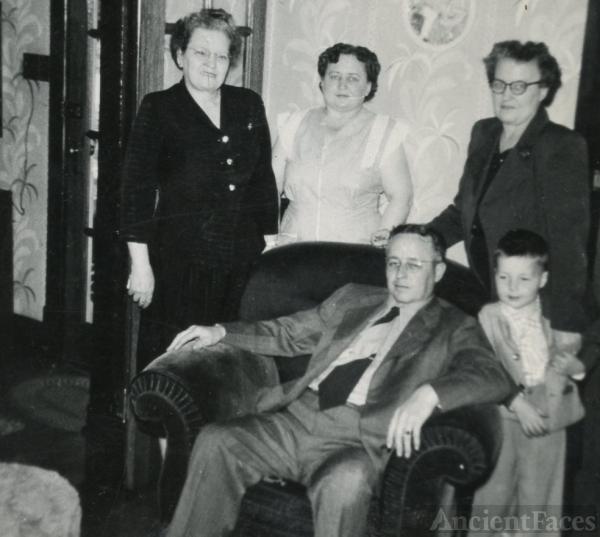 Charles, 'Kit', Blanche, & Lelah Baxley, 1951 Ohio