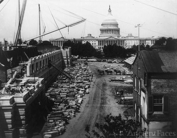 Construction of the Northwest Court of the Jefferson Building