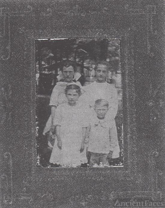 4 children tintype