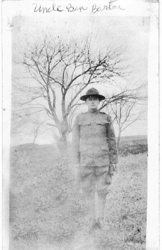 Great Uncle Benjamin Barton-WW I