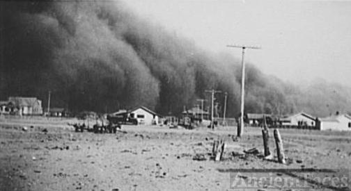 Dust storm. Baca County, Colorado