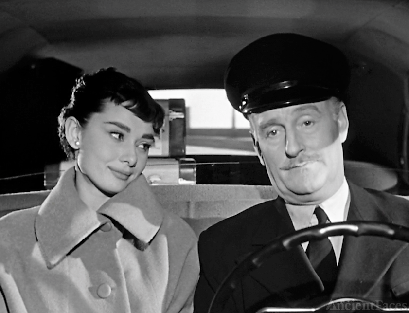 Audrey Hepburn and John Williams in Sabrina.