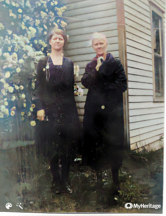 Mathilda Schultz Adams and Rose Rawlings