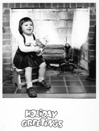 1955 Photo Christmas Card